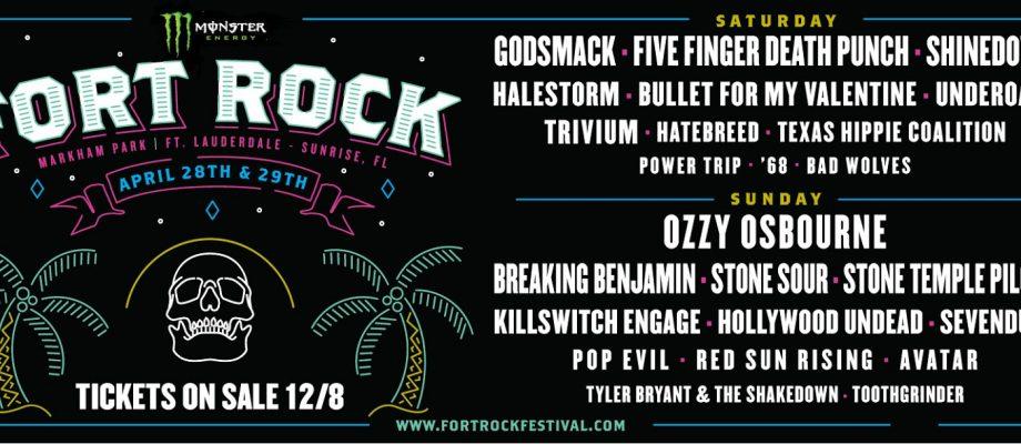 Fort Rock Set Times