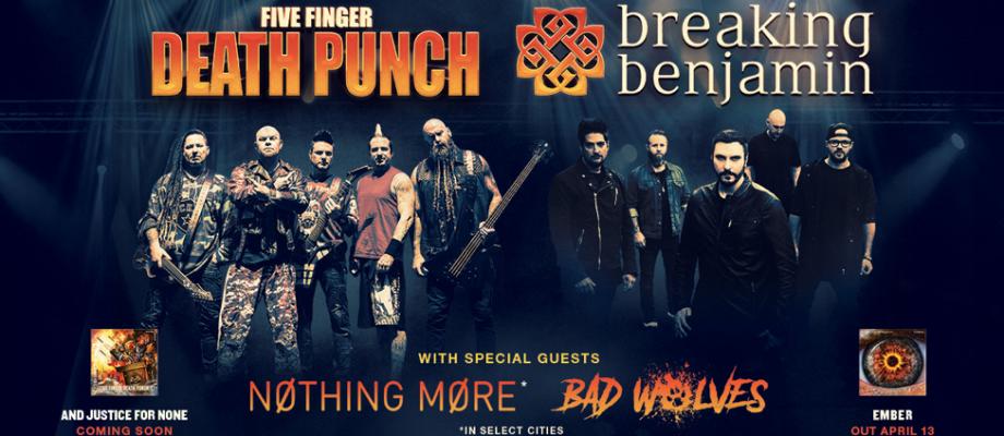 Five Finger Death Punch Breaking Benjamin Tour