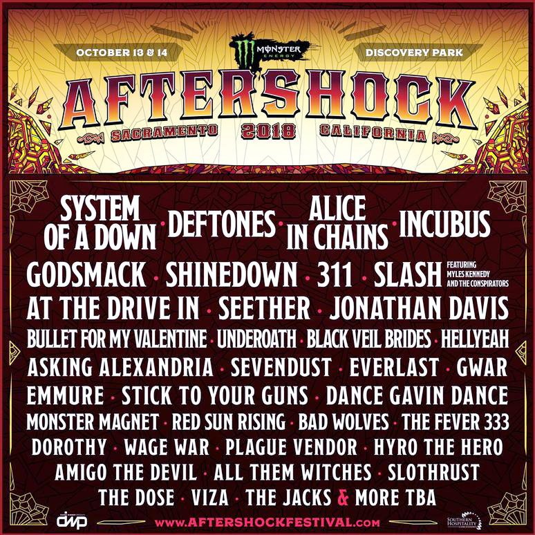 aftershock lineup 2018