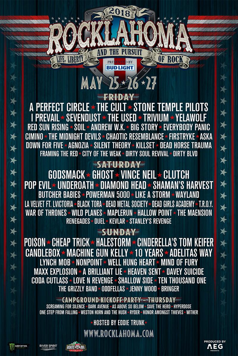 rocklahoma 2018 lineup