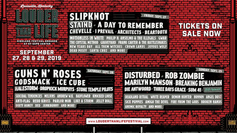 louder than life lineup 2019