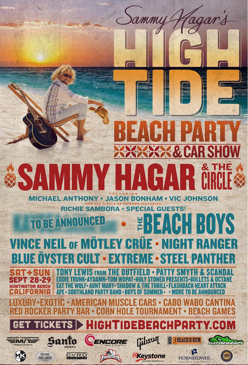 sammy hagar beach party lineup
