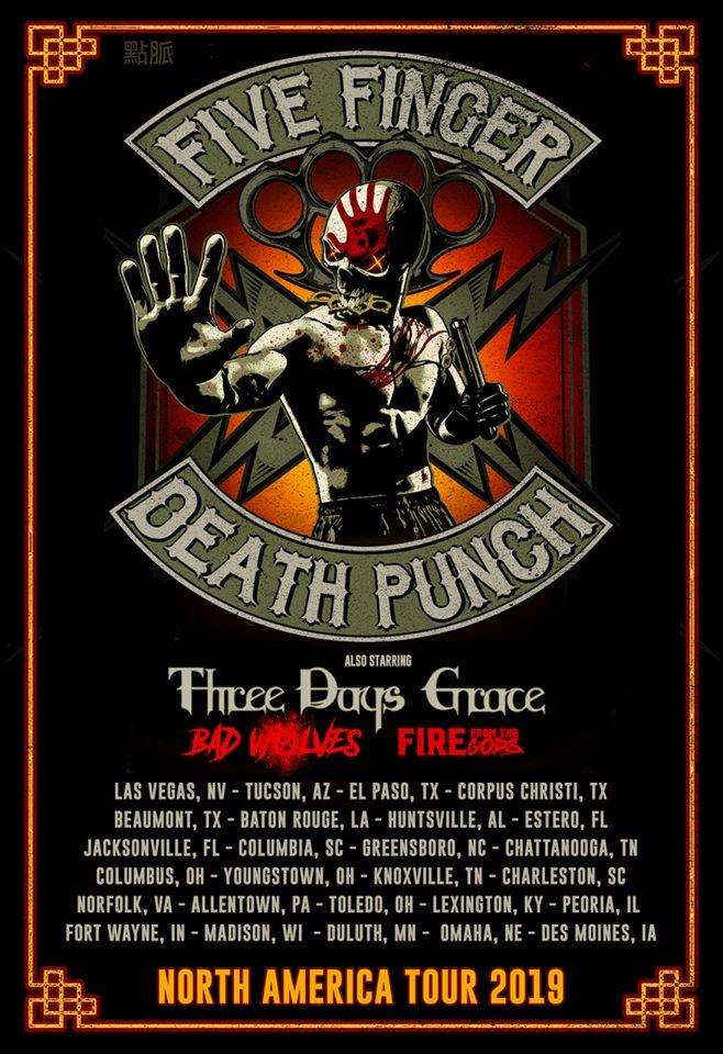five finger death punch tour 2019 poster