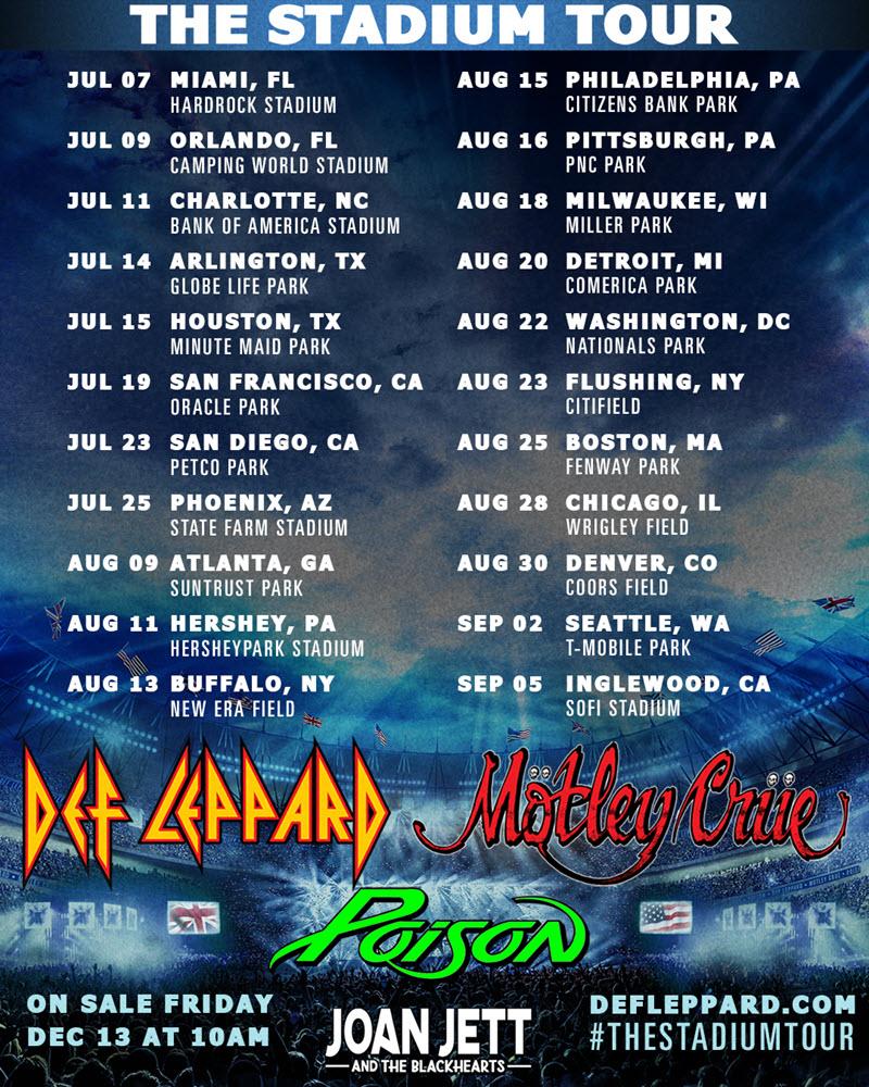 The Stadium tour dates