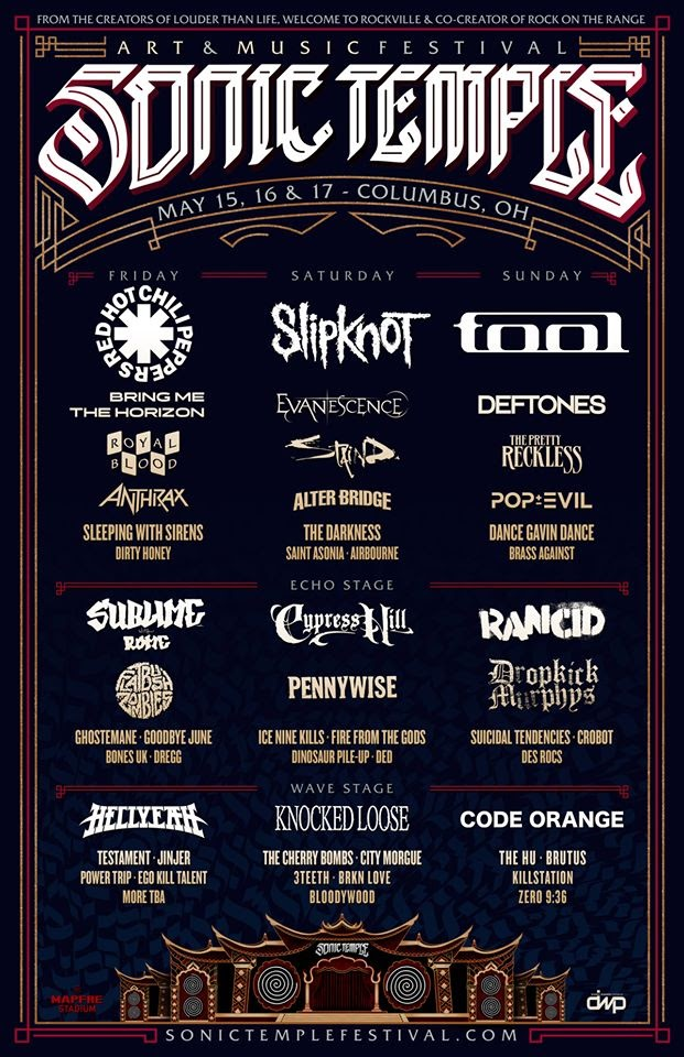 sonic temple updated lineup