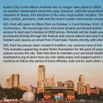ACL Fest Cancelled