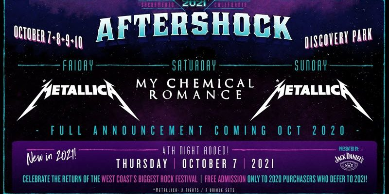 Aftershock Festival 2020 Cancelled –  Rescheduled To October 7-10, 2021